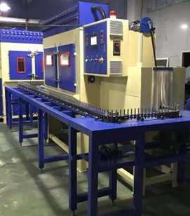 钻头轴柱类工件通过式自动喷砂机