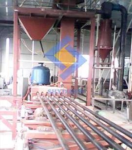 钢管内壁喷砂生产线
